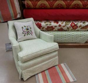 green chair-