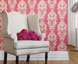 rose and winged chair